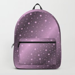 purple,Many pretty shamrocks in a design metal shiny festively elegant, for anyone from the family Backpack