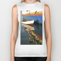 water colour Biker Tanks featuring Water Colour by David Jessamy