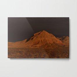 Desert Alpenglow Metal Print