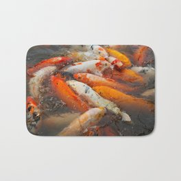 Koi Carp Food Frenzy 2 Bath Mat