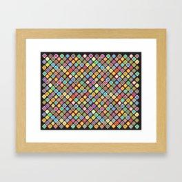 Coloured Squares Framed Art Print