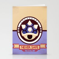 mario kart Stationery Cards featuring Never Safe - Mario Kart by TomStreetArt