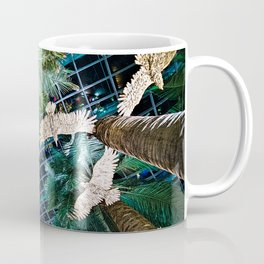 Looking up at Palm trees. Coffee Mug