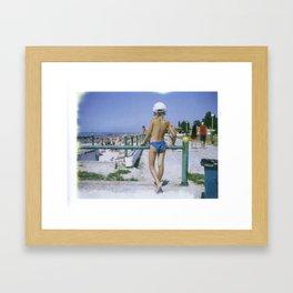 Little Girl Looking Framed Art Print