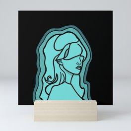 Miss Turquoise Mini Art Print