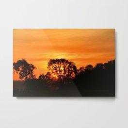 Glow Tree Metal Print