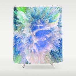 """Unbreakable Spirit"" Abstract Design Shower Curtain"