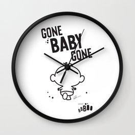 Gone Baby Gone Wall Clock