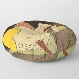 Paris nightlife 1891 Toulouse Lautrec Floor Pillow