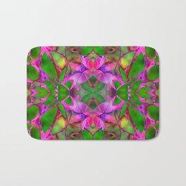 Floral Fractal Art G374 Bath Mat
