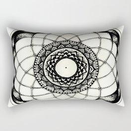 complicated flower Rectangular Pillow