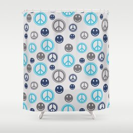 Peace Smile Shower Curtain