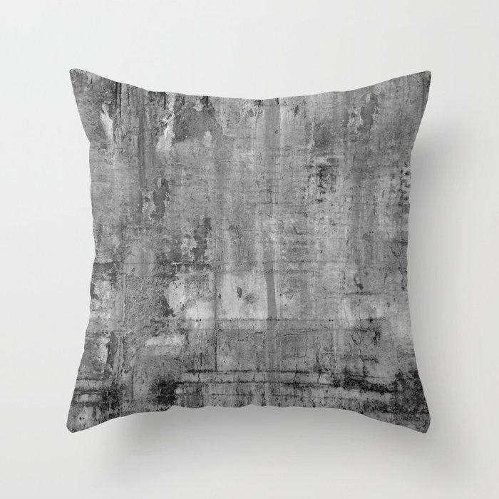GREY MODERN INDUSTRIAL RUSTIC Throw Pillow by magictreesandbumebees