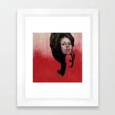 #46 Curl Framed Art Print