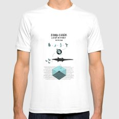Food chain White Mens Fitted Tee MEDIUM