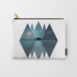 Geometric Nature Bear Carry-All Pouch