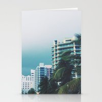 miami Stationery Cards featuring Miami  by Anna Zurowska