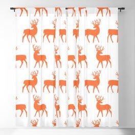 Mid Century Modern Deer Pattern Orange 3 Blackout Curtain