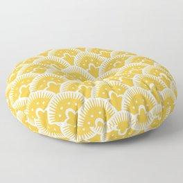 Fan Pattern Mustard Yellow 201 Floor Pillow
