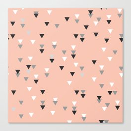 triangle pink background Canvas Print