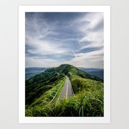 road to heaven Art Print