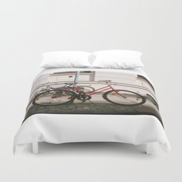 Red Bike Duvet Cover