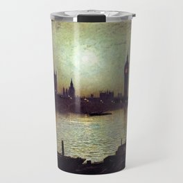 Westminster Bridge by Moonlight by John Atkinson Grimshaw Travel Mug