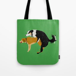 DOGS MATE SEX MAKE LOVE Tote Bag