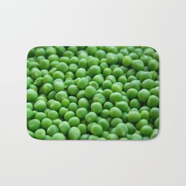 Green peas veggie pattern Bath Mat