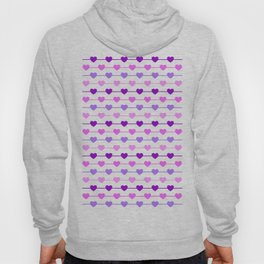 Hearts - Pink and Purple Hoody