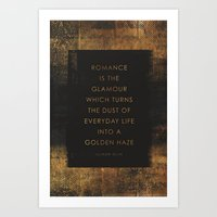 romance Art Prints featuring Romance by NOT MY TYPE