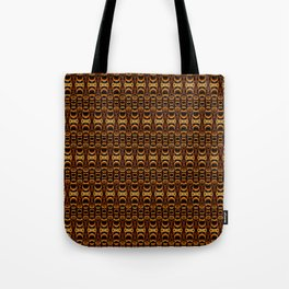Dividers 07 in Orange Brown over Black Tote Bag