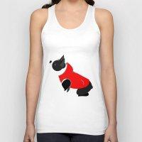 boston terrier Tank Tops featuring Boston Terrier by Marstella