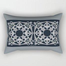 Support Love Mandala x 2 - Neutral/Black Rectangular Pillow