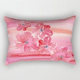 Tropical Floral Fruit Punch Rectangular Pillow