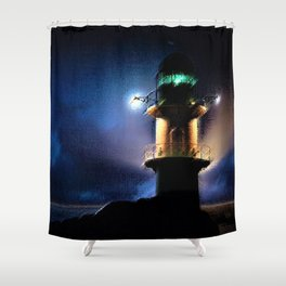 Reykjavik Lighthouse by Jeanpaul Ferro Shower Curtain