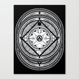blvck Canvas Print