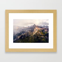 Moody Autumn Mountain in the North Cascades Framed Art Print