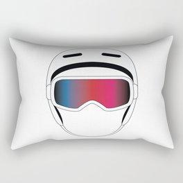 Snowboard Helmet and Goggles Rectangular Pillow