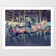 Black Stallion! Art Print