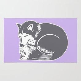Sleeping Husky Dog Rug
