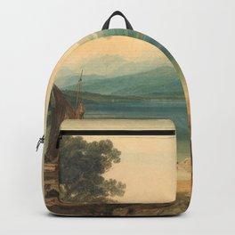 Lake Geneva and Mount Blanc (1802-1805) by J.M.W. Turner Backpack