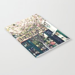 Cherry blossoms in Paris, Shakespeare & Co. Notebook