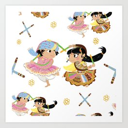 Navratri Pattern Art Print