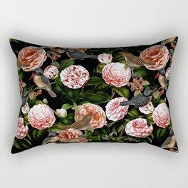 Vintage & Shabby Chic - Blush Camellia & Kingfishers Rectangular Pillow