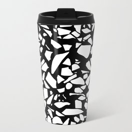Terrazzo White on Black Metal Travel Mug