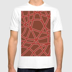 many streets darkred Mens Fitted Tee MEDIUM White