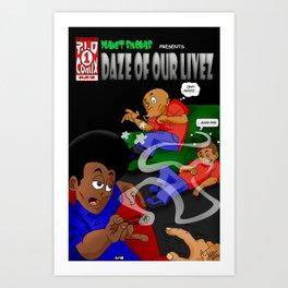 "Planet Smokas presents Daze of Our Livez - Cover ""What We Do"" Profile Page 9/10 Art Print"