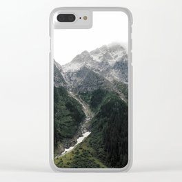 Alberta Misty Mountains Clear iPhone Case