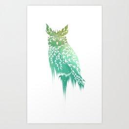 Vine Owl Art Print
